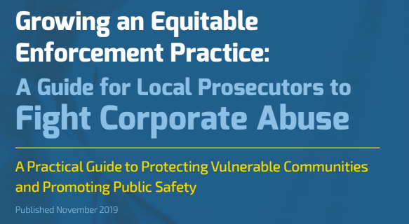 Public Rights Project Releases Guide for Local Prosecutors, Urges Newly Elected DAs to Fight Corporate Abuse