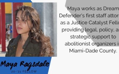 Justice Catalyst Fellow Maya Ragsdale named Best Activist in Miami New Times' Best of 2020 List